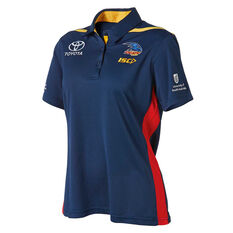 Adelaide Crows 2019 Womens Media Polo Navy 10, Navy, rebel_hi-res