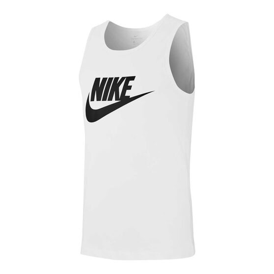 Nike Mens Sportswear Icon Futura Tank, White, rebel_hi-res