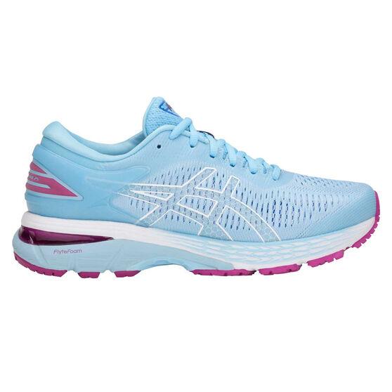 Asics GEL Kayano 25 Womens Running Shoes Blue / White US 7.5, Blue / White, rebel_hi-res