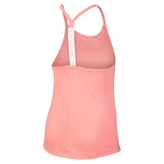 Nike Girl's Dri-FIT Training Tank, Pink / White, rebel_hi-res