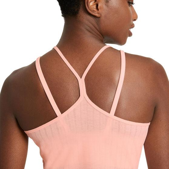 Nike Womens Yoga Pointelle Tank Orange S, Orange, rebel_hi-res