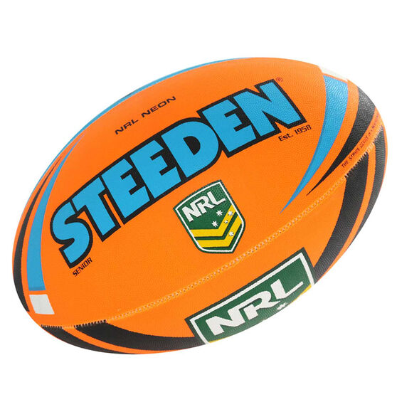 Steeden NRL Neon Rugby League Ball, , rebel_hi-res