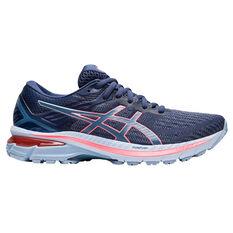 Asics GT 2000 9 D Womens Running Shoes Blue/Coral US 6, Blue/Coral, rebel_hi-res
