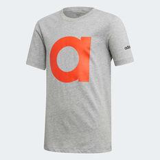 adidas Boys Essentials Branded Tee Grey / Orange 4, Grey / Orange, rebel_hi-res