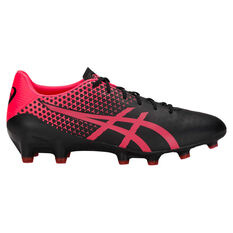 Asics Menace Mens Football Boots Black / Pink US Mens 7 / Womens 8.5, Black / Pink, rebel_hi-res