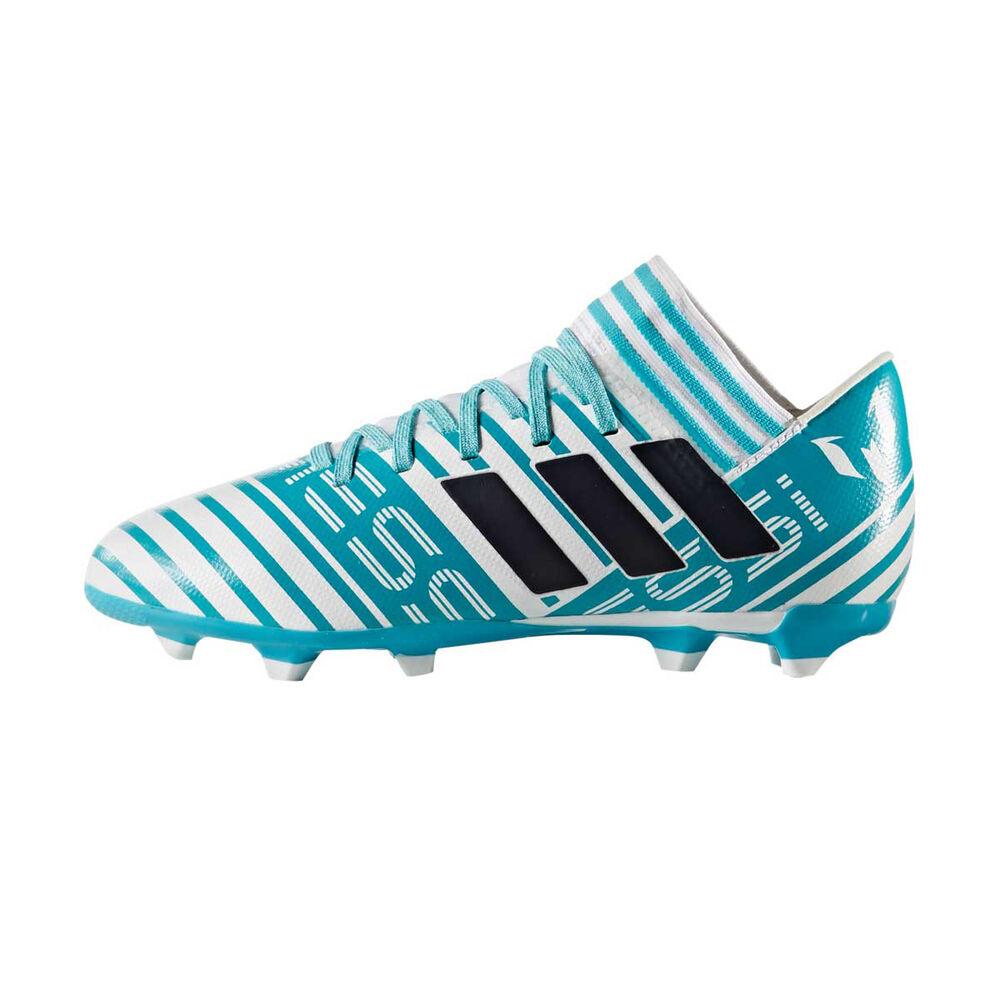 d7d244d5a adidas Nemeziz Messi 17.3 FG Junior Football Boots White / Aqua US 11 Junior,  White