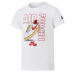 Nike Boys AF1 Connect The Dots Tee White 4, White, rebel_hi-res