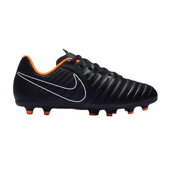 Nike Tiempo Legend VII Club FG Junior Football Boots, Black / Orange, rebel_hi-res