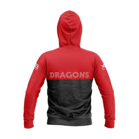 St George Illawarra Dragons 2019 Mens Team Hoodie, Black / Red, rebel_hi-res