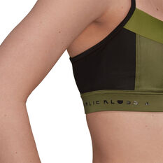 adidas Womens Karlie Kloss Bikini Top, Khaki, rebel_hi-res