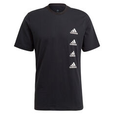adidas Mens Gradient Logo Tee Black M, Black, rebel_hi-res