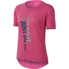 Nike Womens Icon Clash Running Tee Pink XS, Pink, rebel_hi-res