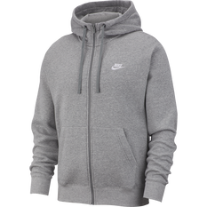 Nike Mens Sportswear Club Fleece Full-Zip Hoodie Dark Grey XS, Dark Grey, rebel_hi-res