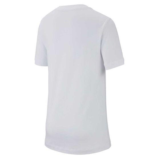 Nike Boys JDI T-Shirt White / Black XS, White / Black, rebel_hi-res