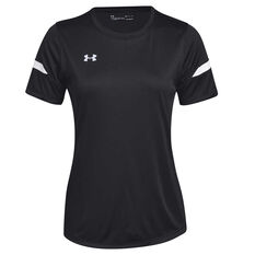 Under Armour Womens Golazo 2.0 Soccer Tee Black S, Black, rebel_hi-res