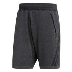 adidas Mens Primeknit 3-Stripes 8in Training Shorts Black S, Black, rebel_hi-res