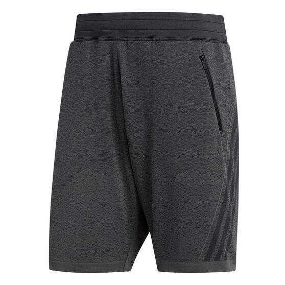 adidas Mens Primeknit 3-Stripes 8in Training Shorts, Black, rebel_hi-res