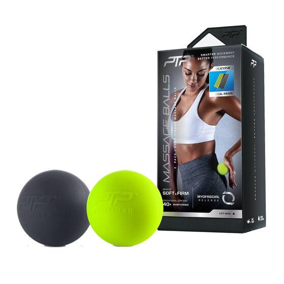 PTP Soft And Firm Massage Balls Lime / Black, , rebel_hi-res