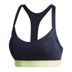 adidas Womens All Me Iteration Sports Bra Navy Blue XS, Navy Blue, rebel_hi-res
