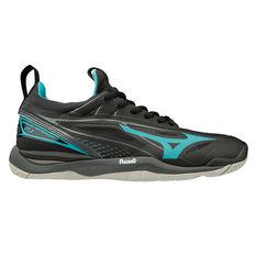 Mizuno Wave Mirage 2.1 Womens Netball Shoes Black / Blue US 6.5, Black / Blue, rebel_hi-res