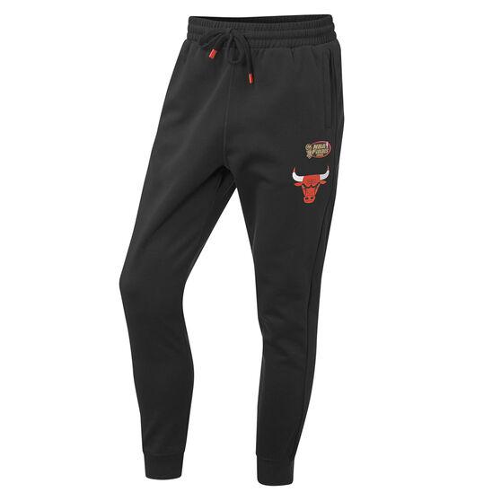 Chicago Bulls Mens Hometown Fleece Jogger Pants, Black, rebel_hi-res