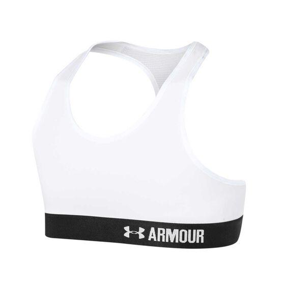 Under Armour Girls Armour Bra White XL, White, rebel_hi-res
