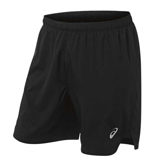 Asics Mens Silver 5in Shorts, Black, rebel_hi-res