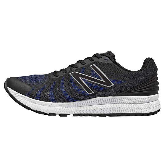 New Balance FuelCore Rush v3 Mens Running Shoes, Black / Blue, rebel_hi-res