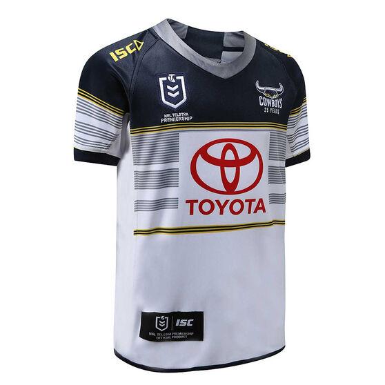 North Queensland Cowboys 2020 Kids Home Jersey, White / Navy, rebel_hi-res