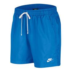 Nike Mens Sportswear Woven Flow Shorts Blue XS, Blue, rebel_hi-res