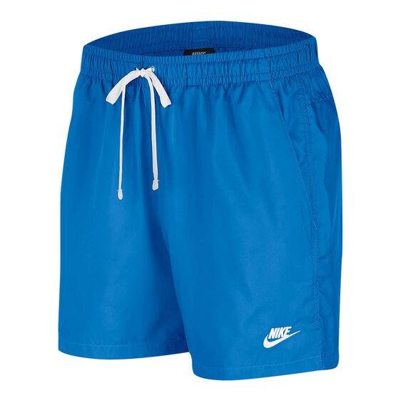 Nike Mens Sportswear Woven Flow Shorts Blue S, Blue, rebel_hi-res