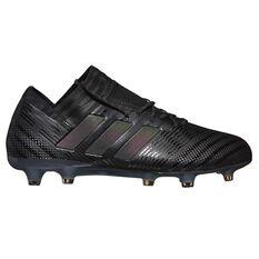 adidas Nemeziz 17.1 FG Mens Football Boots Black / Green US 7 Adult, Black / Green, rebel_hi-res