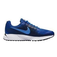 Nike Zoom Pegasus 34 Kids Running Shoes Blue / Black US 4, Blue / Black, rebel_hi-res