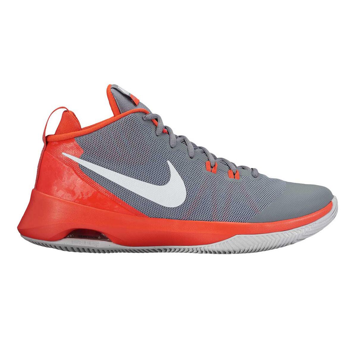 nike air versatile mens basketball shoes grey orange us 8 5 rh rebelsport com au