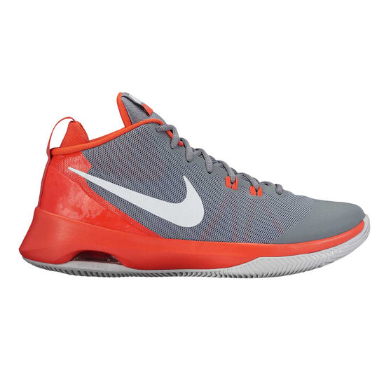 33570c3d3454 Nike Air Versatile Mens Basketball Shoes Grey   Orange US 8.5 ...