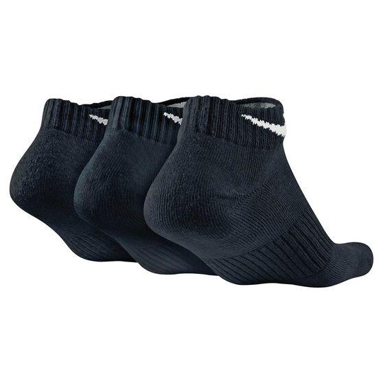 Nike Mens Cushion Low Cut 3 Pack Socks, Black, rebel_hi-res
