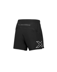 2XU Mens XVENT 5in Shorts Black XS, Black, rebel_hi-res