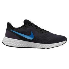 Nike Revolution 5 Mens Running Shoes Grey / Blue US 7, Grey / Blue, rebel_hi-res