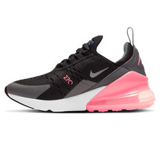 Nike Air Max 270 Kids Casual Shoes Black/Pink US 4, Black/Pink, rebel_hi-res