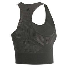 adidas Womens Warp Knit Crop Top, Grey, rebel_hi-res