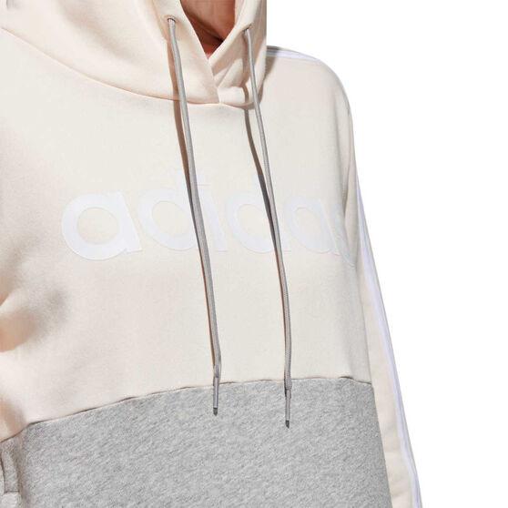 adidas Womens Essentials Colourblock Hoodie, Pink, rebel_hi-res