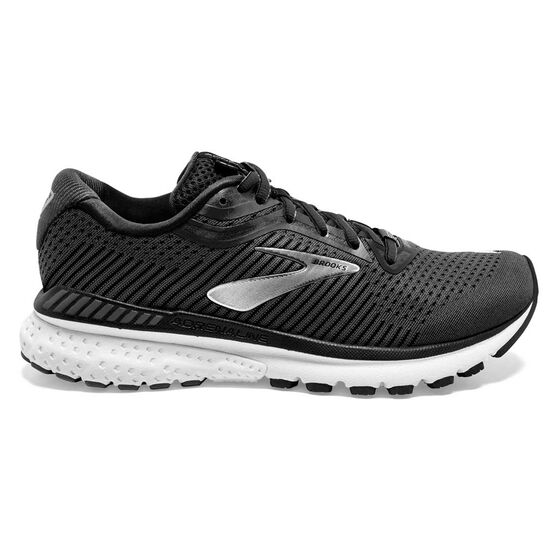 Brooks Adrenaline GTS 20 Mens Running Shoes, Black / Grey, rebel_hi-res