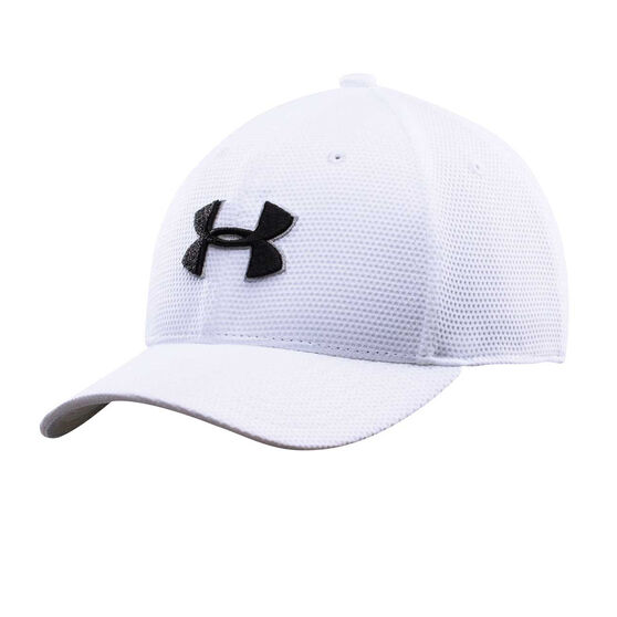 Under Armour Boys Blitzing II Stretch Fit Cap White XS / S, White, rebel_hi-res