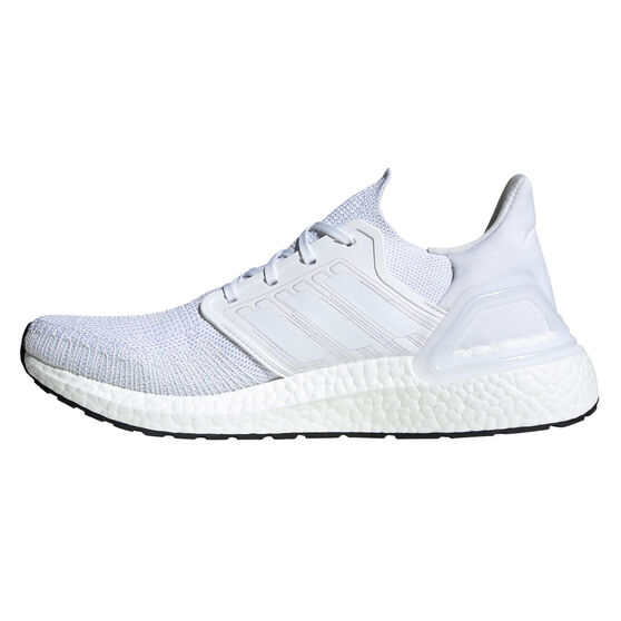 adidas Ultraboost 20 Mens Running Shoes, White / Grey, rebel_hi-res