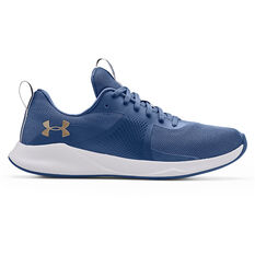 Under Armour Charged Aurora Womens Training Shoes, Blue/White, rebel_hi-res