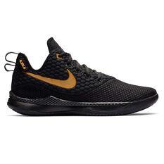 Nike LeBron Witness III Mens Basketball Shoes Black / Gold US 7, Black / Gold, rebel_hi-res