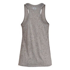 Under Armour Womens Tech Graphic Tank Grey XL, Grey, rebel_hi-res