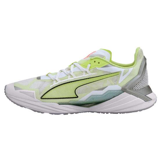 Puma UltraRide Mens Running Shoes, White/Yellow, rebel_hi-res