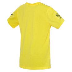 Cricket Australia 2019/20 Kids Bat Bowl Tee Yellow 8, Yellow, rebel_hi-res