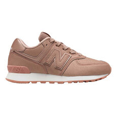 New Balance 574 Kids Casual Shoes Pink US 4, Pink, rebel_hi-res